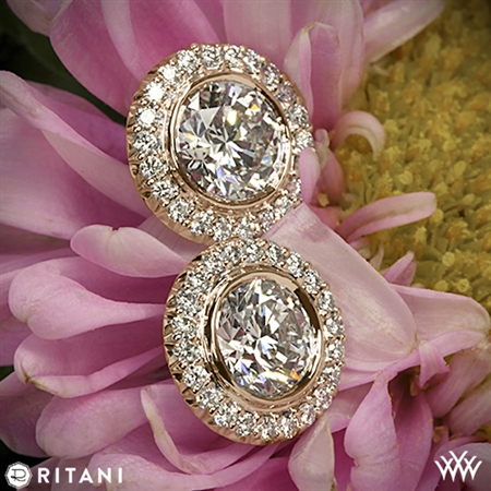 Ritani 5RZ3700 Bella Vita Halo Diamond Earrings