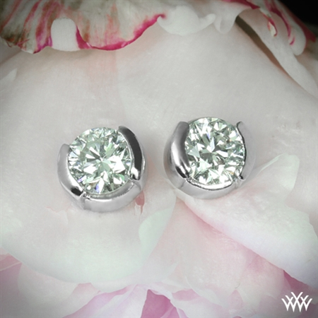 Half-Bezel Diamond Earrings
