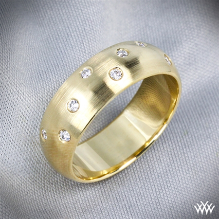 Men's Champagne Diamond Wedding Ring