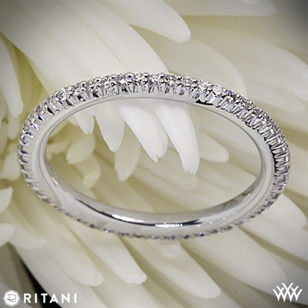 Ritani 33700 Open Micropavé Eternity Diamond Wedding Ring