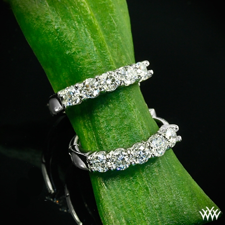 Shared-Prong Diamond Hoop Earrings