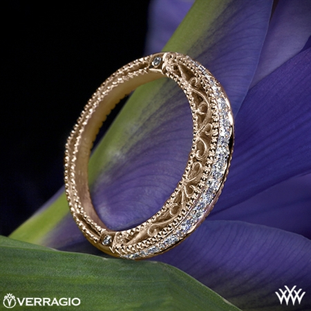 Verragio AFN-5002W-1 Beaded Diamond Wedding Ring