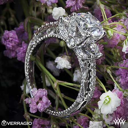 Verragio Venetian Centro AFN-5023R-1 Three Stone Engagement Ring