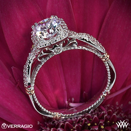 Verragio Parisian D-106CU Twisted Halo Diamond Engagement Ring