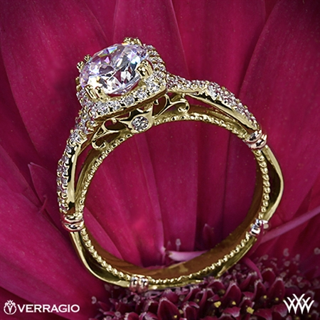 Verragio D-106CU Twisted Halo Diamond Engagement Ring