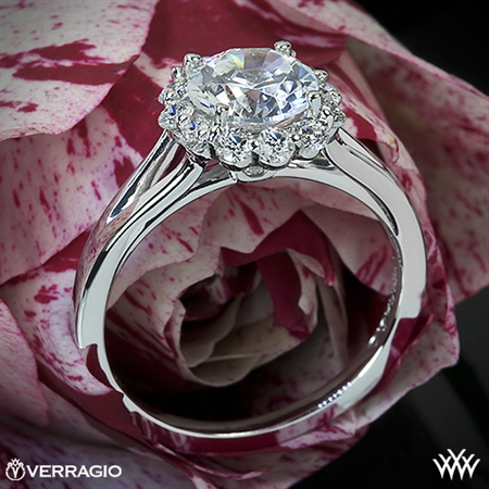 Verragio ENG-0356 Split Shank Halo Solitaire Engagement Ring