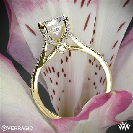 Verragio ENG-0371 4 Prong Petite Pave Diamond Engagement Ring