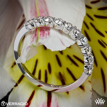 Verragio ENG-0410SW Shared-Prong Diamond Wedding Ring