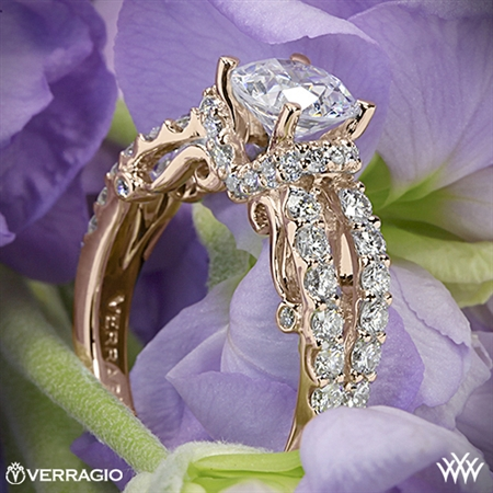 Verragio INS-7013 4 Prong Pave Wrap Diamond Engagement Ring