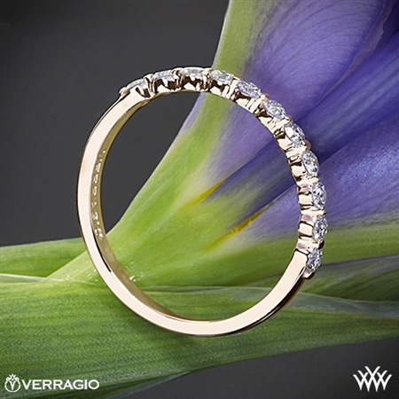 Verragio INS-7034W Single Prong Diamond Wedding Ring