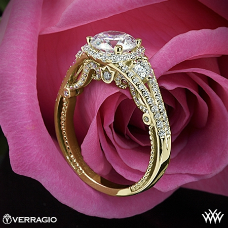 Verragio INS-7068R Domed Bead-Set Diamond Engagement Ring