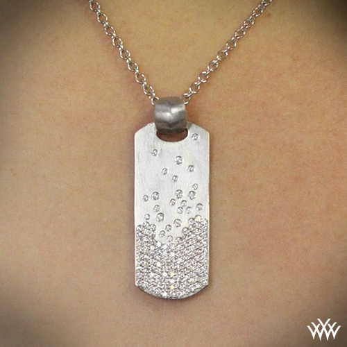 Champagne Diamond Dog Tag