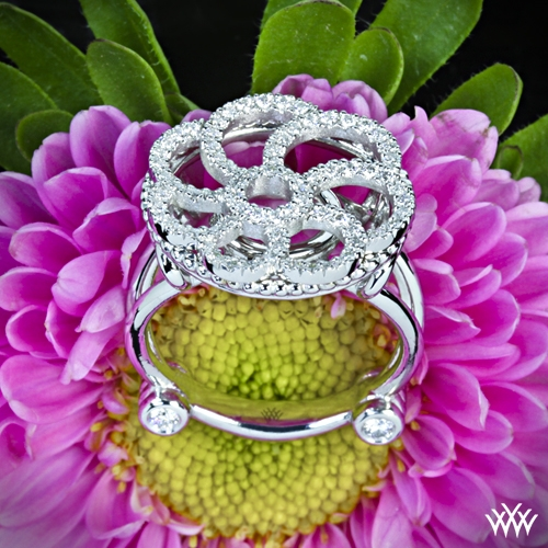 Floral Crest Diamond Right Hand Ring