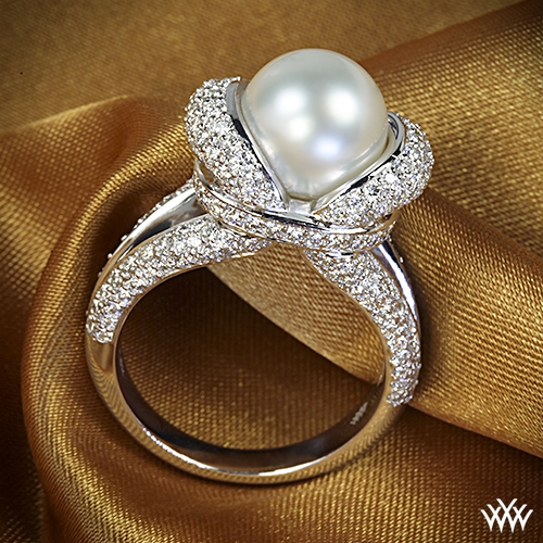 Gaia Pearl and Diamond Right Hand Ring
