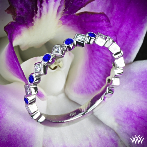 Krysty Diamond and Sapphire Right Hand Ring