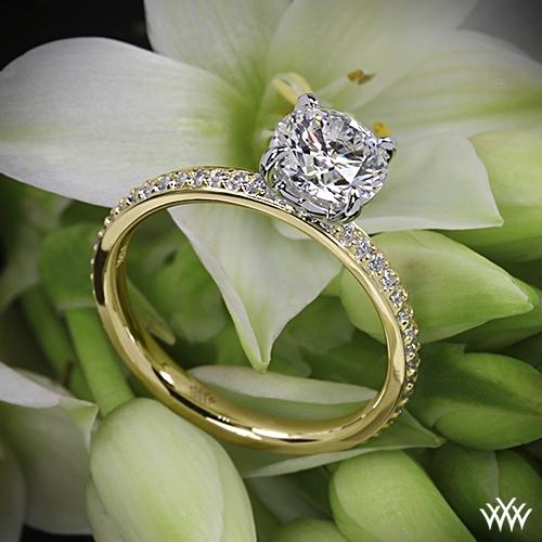 The Legato Micro Pave Diamond Engagement Ring | 911