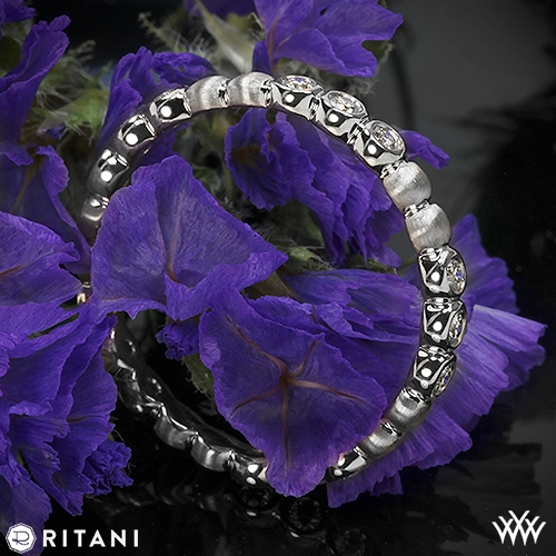 Ritani S33-8 Stack Bezel-Set Diamond Right Hand Ring