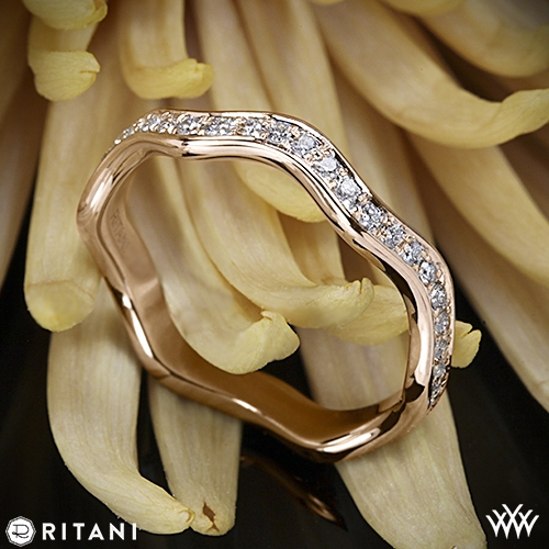 Ritani S43-8 Stack Waved Eternity Diamond Right Hand Ring