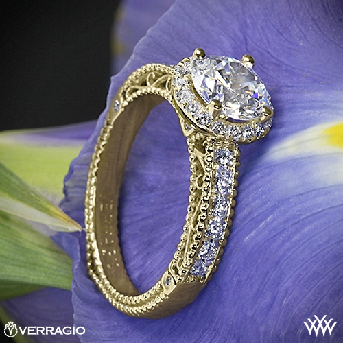 Verragio AFN-5002R-1 Beaded Pave Diamond Engagement Ring