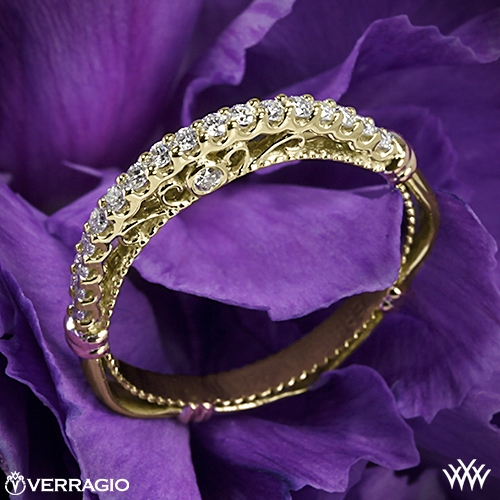 Verragio D-103SW Arched Shared-Prong Diamond Wedding Ring