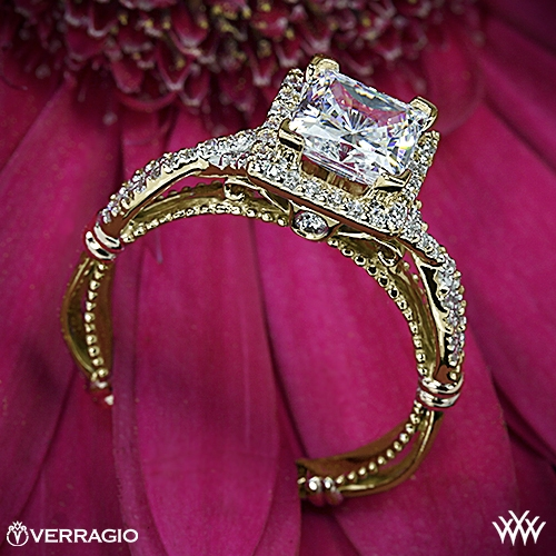 Verragio D-106P Halo Diamond Engagement Ring for Princess