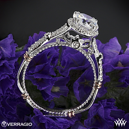 Verragio D-109R Twisted Split Shank Diamond Engagement Ring