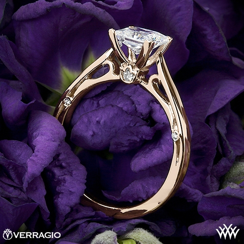 Verragio ENG-0409P 4 Prong Solitaire Engagement Ring for Princess