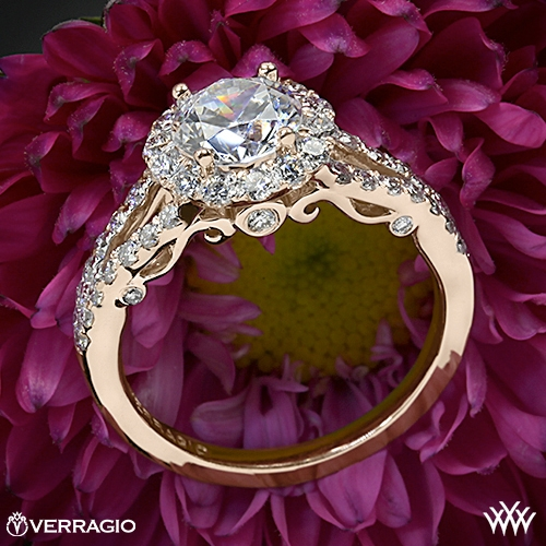 Verragio INS-7010R Split Shank Halo Diamond Engagement Ring