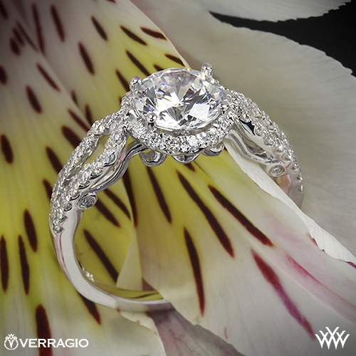 Verragio INS-7042R 4 Prong Round Halo Diamond Engagement Ring