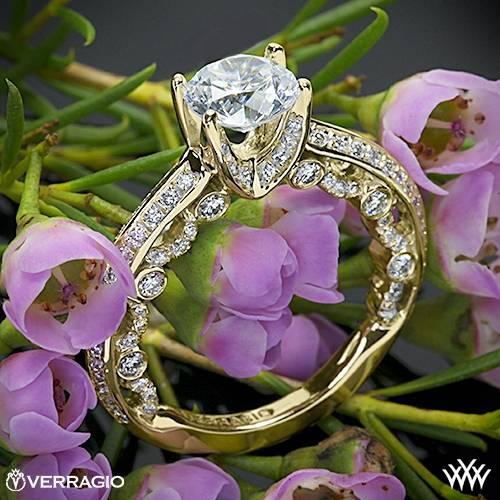 Verragio PAR-3001R Pave Knife-Edge Diamond Engagement Ring