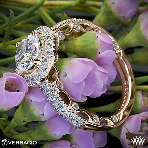 Verragio PAR-3006R Dual Row Pave Diamond Engagement Ring