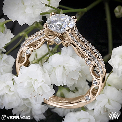 Verragio PAR-3052R Bead-Set Split Shank Diamond Engagement Ring