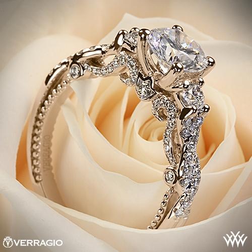 Verragio INS-7074R Braided 3 Stone Engagement Ring