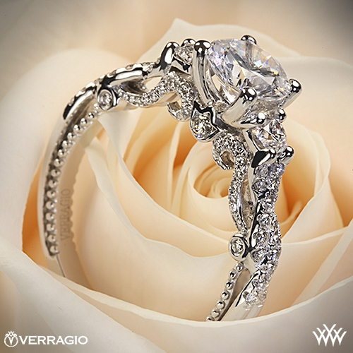 Verragio Braided 3 Stone Engagement Ring 1994