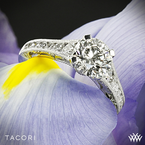 Tacori HT2510 Reverse Crescent Graduated Diamond Engagement Ring