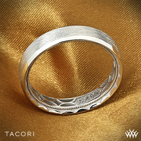 Tacori 107-5B Sculpted Crescent 3 Sided Brushed Eternity Wedding Ring