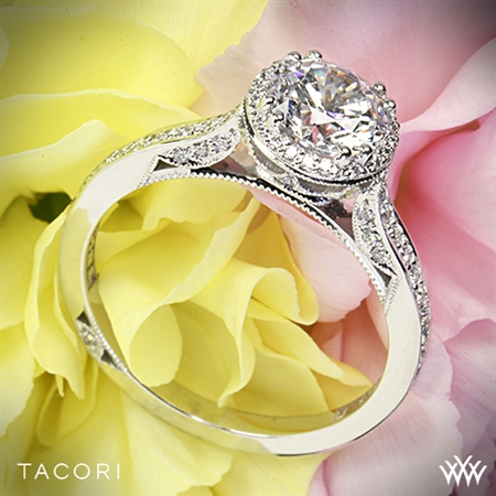 Tacori 2639RD P Dantela Spotlight Diamond Engagement Ring