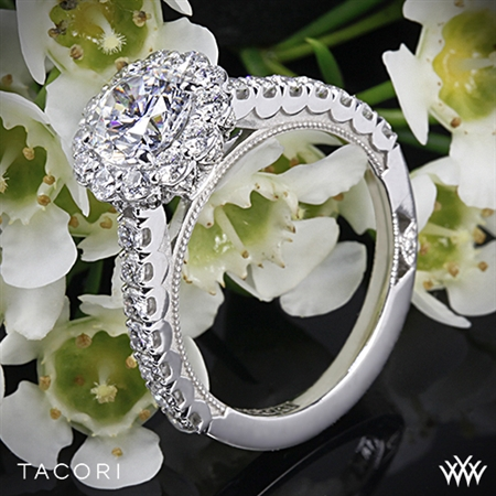 Tacori 37-2RD Full Bloom Round Halo Diamond Engagement Ring
