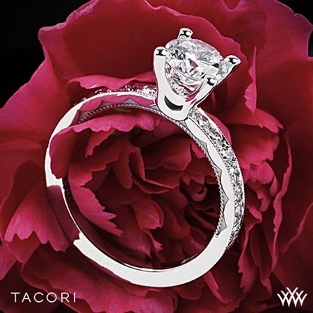 Tacori 41-25RD Sculpted Crescent Large Diamond Engagement Ring