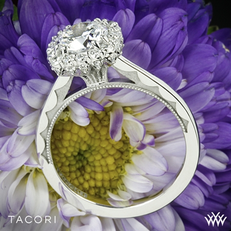 Tacori 55-2CU Full Bloom Cushion Halo Solitaire Engagement Ring