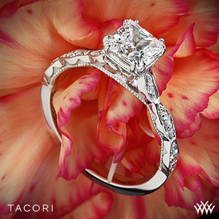 Tacori 57-2PR Sculpted Crescent Diamond Engagement Ring for Princess