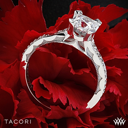 Tacori 58-2PR Sculpted Crescent Grace Diamond Engagement Ring for Princess