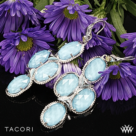 Tacori SE15305 Island Rains Clear Quartz over Neolite Turquoise Chandelier Earrings