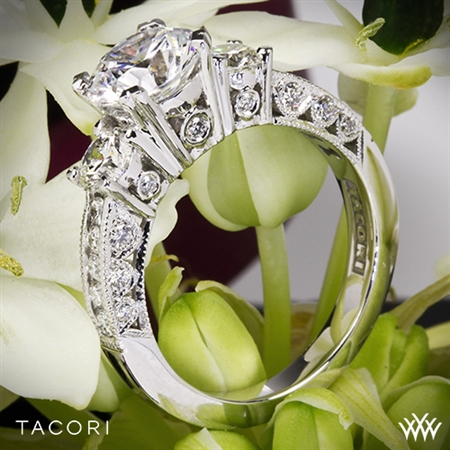 Tacori HT2326 Classic Crescent Three Stone Engagement Ring