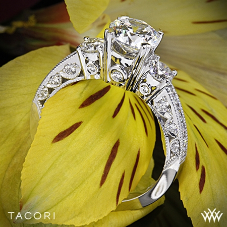 Tacori HT2326 Classic Crescent 3 Stone Engagement Ring