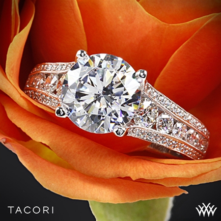 Tacori HT2513RD Classic Crescent Tapered Diamond Engagement Ring