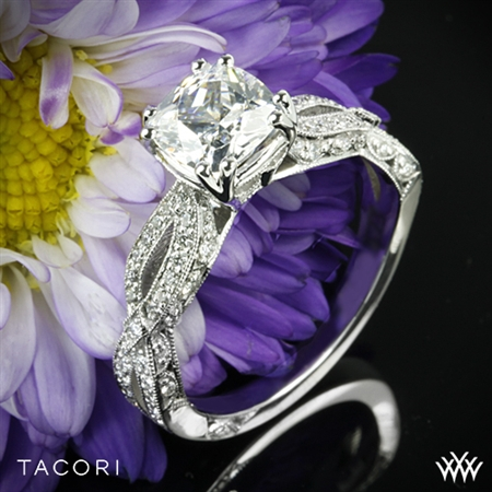 Tacori HT2528CU Cushion Twist Diamond Engagement Ring