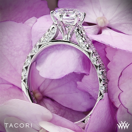 Tacori HT2546RD Petite Crescent Enchantment Diamond Engagement Ring