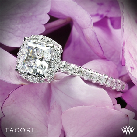 Tacori HT2547PR Petite Crescent Celestial Diamond Engagement Ring for Princess