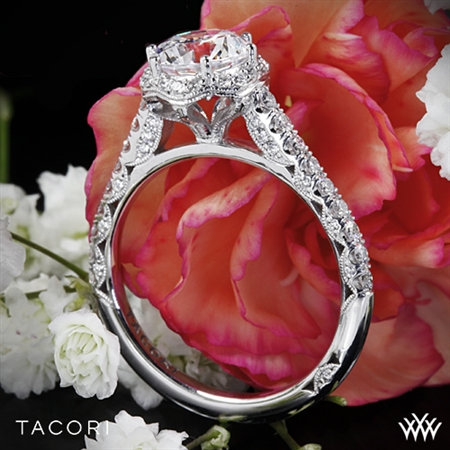 Tacori HT2547RD Petite Crescent Celestial Diamond Engagement Ring